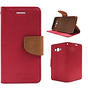 DENICELL Royal Dairy Style Flip Cover For Samsung Galaxy A5 (MATTE PINK)