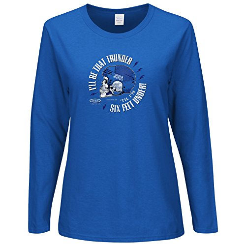 Tampa Bay Hockey Fans. I'll Be That Thunder 'Till I'm Six Feet Under. Royal Blue Ladies Long Sleeve T-Shirt (Sm-2X) (2XL) (Six Feet Under Tshirt compare prices)
