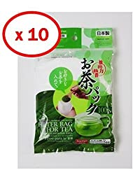10x100pcs Disposable Filter Bags for Loose Tea