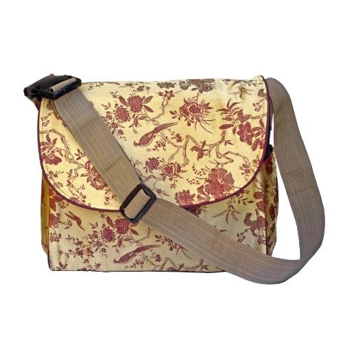 I Frogee Gold Multi Function Brocade Diaper Bag / Backpack / Stroller Bag