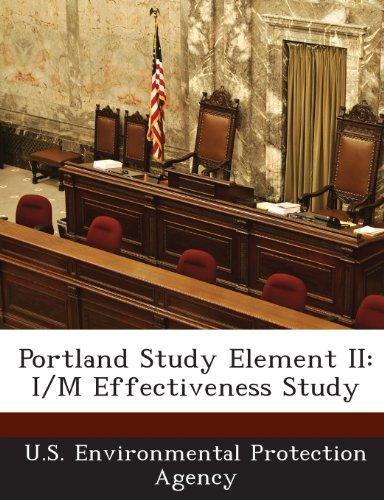 Portland Study Element II: I/M Effectiveness Study