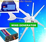 GOWE 300w Wind Turbine Generator+wind solar hybrid controller + pure sine wave inverter to be wind system