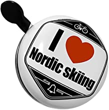 Bicycle Bell I Love Nordic skiing by NEONBLOND