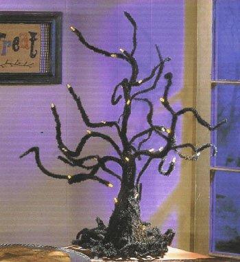 Creepy Led Halloween Ghost Tree Light Up Decoration