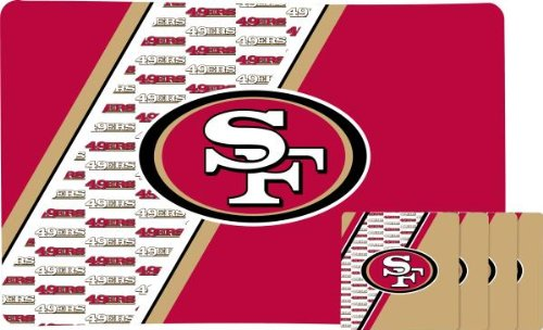 SAN FRANCISCO 49ERS PLACEMAT AND COASTER SET at Amazon.com