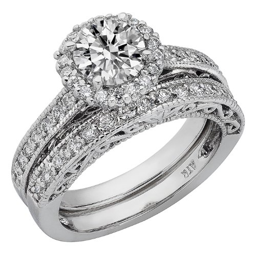 Round Cut Diamond Vintage Engagement Ring Matching