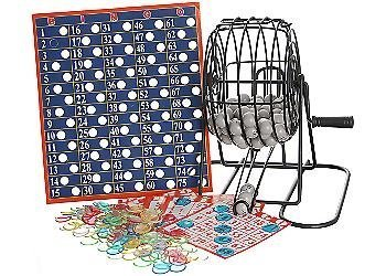 Deluxe Wire Cage Bingo Set by Cardinal Industries TOY (English Manual)