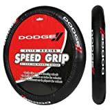 Dodge Elite Black Car Truck Steering Wheel Cover - Universal Fit