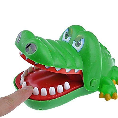 Pixnor Carino dito mordere giocattolo con forma di coccodrillo