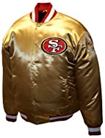 NFL Men's San Francisco 49Ers Prime Gold Satin Jacket by MTC Marketing, Inc