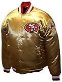 NFL Men's San Francisco 49Ers Prime Gold Satin Jacket (49Ers Gold, X-Large)