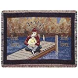"""Dad"" A Son's First Hero, A Daughter's First Love Throw Blanket"
