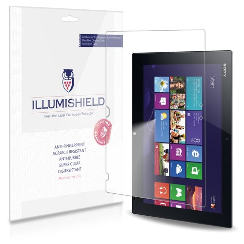 Illumishield - Sony Vaio Tap 11 Screen Protector Japanese Ultra Clear Hd Film With Anti-Bubble And Anti-Fingerprint - High Quality (Invisible) Lcd Shield - Lifetime Replacement Warranty - [2-Pack] Oem / Retail Packaging