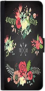 Snoogg Cute Floral Bouquets Designer Protective Phone Flip Case Cover For Huawei Honor 5X