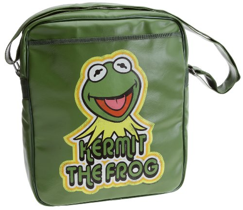 Logoshirt Unisex Adults Muppets Kermit The Frog Cross Over Bag - Olive Green
