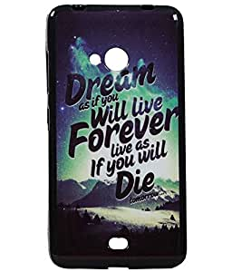 Forever Exclusive Rubberised Back Case Cover For Microsoft Lumia 540 (Dual Sim)