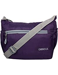 Cairho Sling Stylish Bag Unisex Light Weight Sling Bag Size 15-inch 2 Compartments -Purpal
