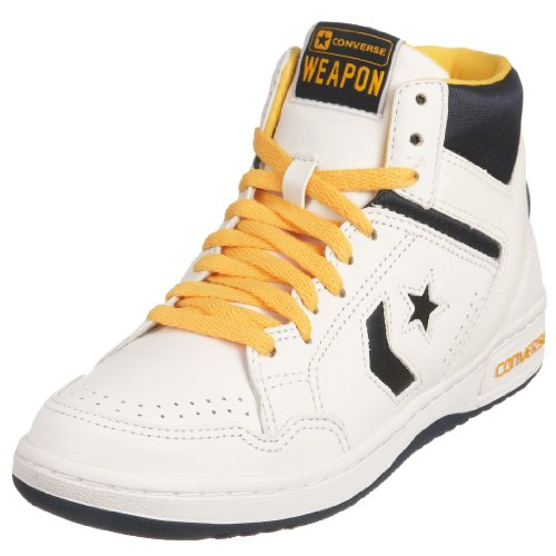 Converse Unisex-Adult Weapon 86 Leather Hi White/Navy/L.Gold Lace Up 116972 7 UK