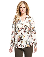 M&S Collection Multi Floral Blouse