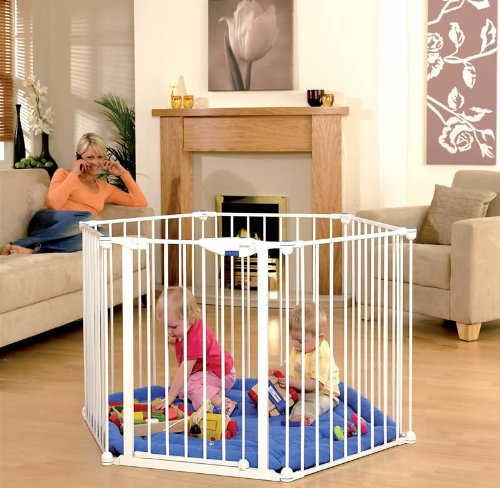 Safe and Secure Metal Playpen-White