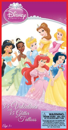 Disney Princess Valentine's Day Cards and Stickers Party Accessory