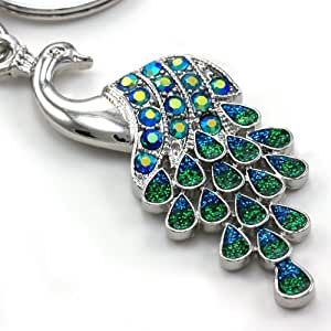 Amazon.com: Gorgeous Peacock Bird Animal Lover Keychain