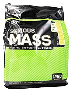 Optimum Nutrition - Serious Mass Vanilla, 12 lb powder