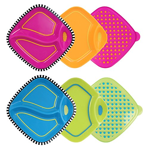 Sassy 6 Piece Dippin' Diner Plate Set (Sassy Bowl Set compare prices)