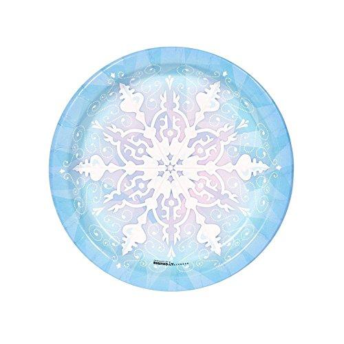 Snowflake Winter Wonderland Dessert Plates (8) - 1