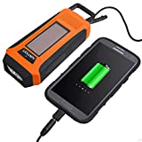 Ivation Solar & Hand Crank AM/FM/NOAA WB Digital Dynamo Radio, Emergency Phone Charger w/ Cables, 3 LED Flashlight, Rechargeable, Rainproof, & Compact