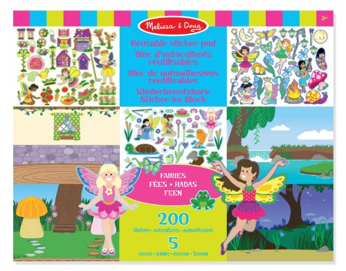 Melissa & Doug Reusable Sticker Pad Fairies - 1