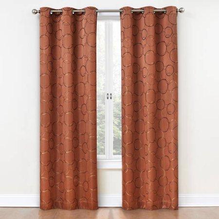 Eclipse Zodiac Energy-Efficient Curtain Panel /Size: 42x84 /Actual Color: Spice (Eclipse Blackout Panel Zodiac compare prices)
