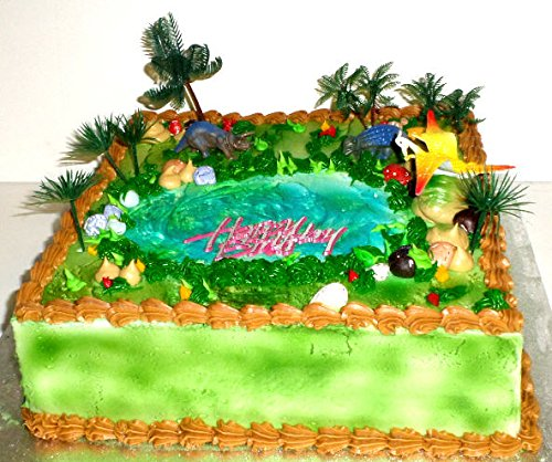 Cakesuppyshop B45635 - Dinosaur Back in the Days Cake Decoration Topper - 1