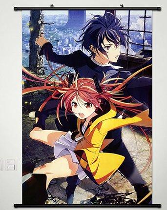 Home Decor Anime Black Bullet Wall Scroll Poster Fabric Painting Satomi Rentaro & Aihara Enjyu 23.6 X 35.4 Inches-011 (Black Bullet Anime Poster compare prices)