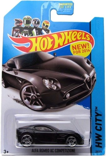 Alfa Romeo 8C Competizione '14 Hot Wheels 29/250 (Black) Vehicle - 1