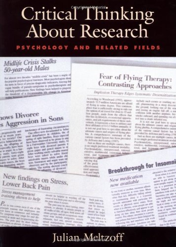 Critical Thinking About Research: Psychology and Related...