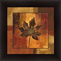 October Leaf I by Silvia Vassileva Autumn Contemporary Art Print Framed