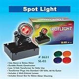 Ocean Star International Pond Submersible Spot Light 20 Watt With 4 Colored Lenses
