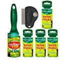 Evercare Pet Hair Extra Sticky Lint Roller with 4 Refills 300 Total Sheets with Fuzzy FamilyTM Swivel Head Lint Brush or Flee Comb