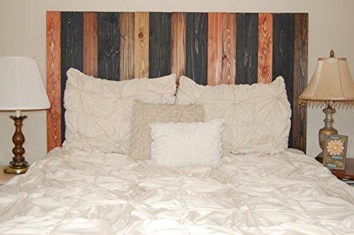 Cabin Mix Design - California King Size Hanger Headboard. Mounts on Wall. Easy Installation.
