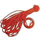 (ユーイーエーエスワイ) Ueasy  30m 水に浮く救命ロープ 救命浮環 救命リングと救命フックに付き 水泳 ライフセービング ダイビングなどに最適  (10mm)