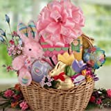 Bountiful Easter -Deluxe Easter Basket of Gourmet Candies and Plush Bunny
