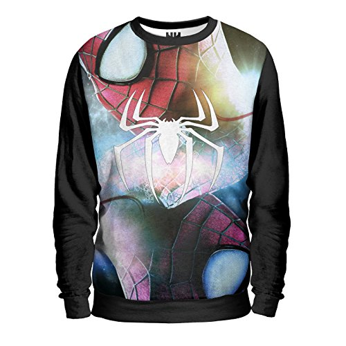 SPIDER MAN COLORFUL ICON - Marvel Comics Sweatshirt Man - Uomo Ragno Felpa Uomo - Peter Parker Venom Goblin, Amazing Spider-Man T-Shirt Fumetti Film Supereroi