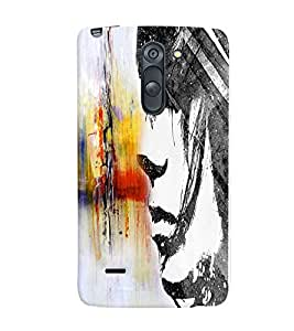 Fuson Cute Girl Back Case Cover for LG G3 STYLUS - D3682