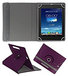 ACM ROTATING 360° LEATHER FLIP CASE FOR DIGIFLIP PRO XT801 TABLET STAND COVER HOLDER PURPLE