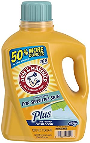 Arm & Hammer Liquid Laundry Detergent, Sensitive Skin Plus