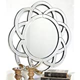 Venetian Design Semi CIrcle Pattern Wall Mirror