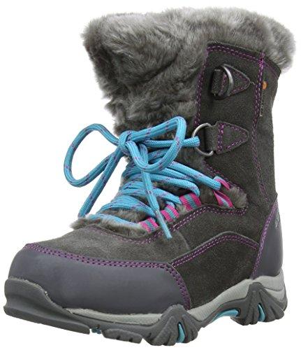 Hi-Tec - Stivali da neve, Bambina, Rosa (Charcoal/Pink/Blue), 38 (normale - 5 uk)
