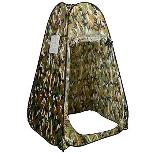 Camping Room Camouflage Portable Pop UP Fishing & Bathing Toilet Changing Tent (Stainless Steel Trailer Jack compare prices)