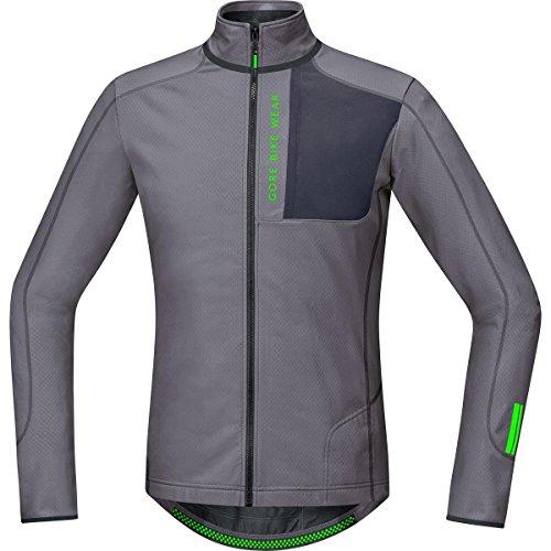 Gore Bike Wear SPOWET869105 Maglia MTB Uomo, Termica, Maniche lunghe, GORE Selected Fabrics, POWER TRAIL Thermo, Taglia L, Grigio